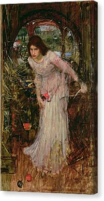 Arthurian Canvas Print - The Lady Of Shalott by John William Waterhouse