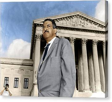 Canvas Print featuring the photograph Thurgood Marshall by Granger