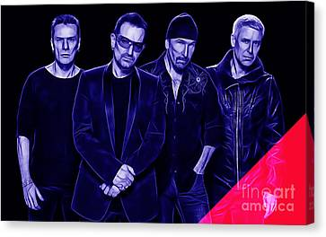 U2 Canvas Print - U2 Collection by Marvin Blaine