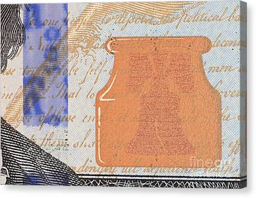 Us 100 Dollar Bill Security Features Canvas Print