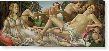 Venus And Mars Canvas Print by Sandro Botticelli