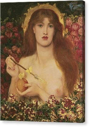 Venus Verticordia Canvas Print by Dante Gabriel Rossetti