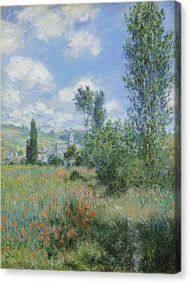 View Of Vetheuil Canvas Print