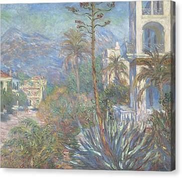 Villas At Bordighera Canvas Print by Claude Monet