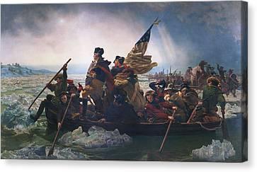 Washington Crossing The Delaware Canvas Print by Emanuel Leutze
