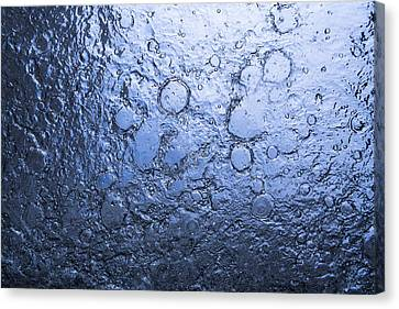 Water Abstraction - Blue Canvas Print by Alex Potemkin