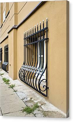 Window Bars Canvas Print