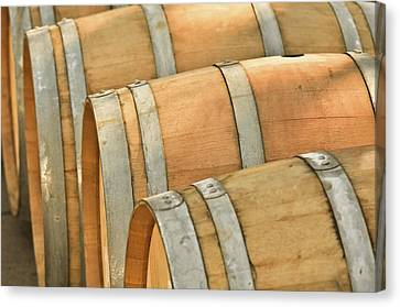 Wine Barrel Canvas Print