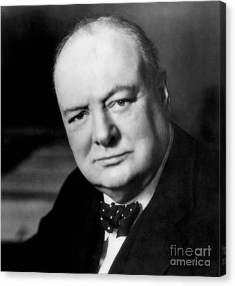 Winston Churchill Canvas Print by English School