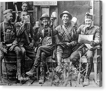 World War I, American Soldiers Canvas Print by Everett