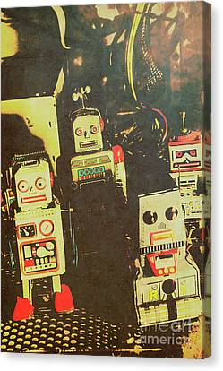 60s Cartoon Character Robots Canvas Print by Jorgo Photography - Wall Art Gallery