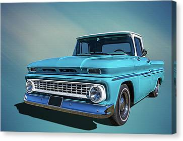 60s Pickup Canvas Print by Keith Hawley