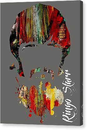 Drummer Canvas Print - Ringo Starr Collection by Marvin Blaine