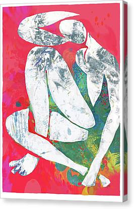 Nude Canvas Print - Nude Pop Stylised Art Poster by Kim Wang