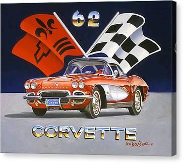 62 Vette Canvas Print by Howard Dubois