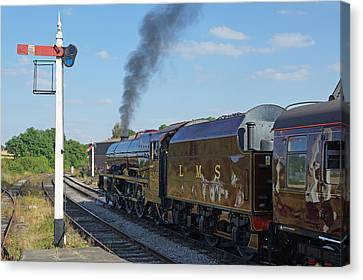 6201 Princess Elizabeth At Swanwick Station Canvas Print by David Birchall