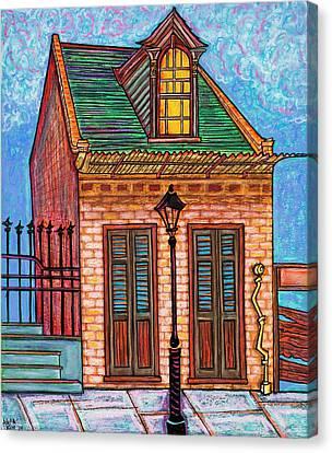 629 Burgundy Street Canvas Print by Aleta Kim Lawton