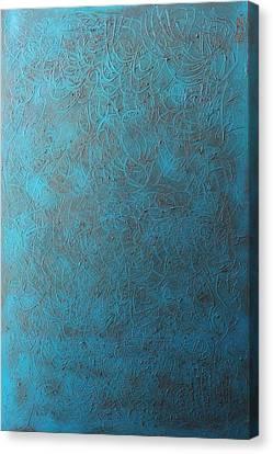 Blue Sky No. 1 Oil On Canvas 24 X 36 Canvas Print