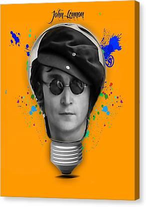 John Lennon Collection Canvas Print by Marvin Blaine