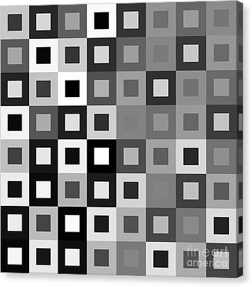 64 Shades Of Grey - 1 - Has Small White Canvas Print by Ron Brown