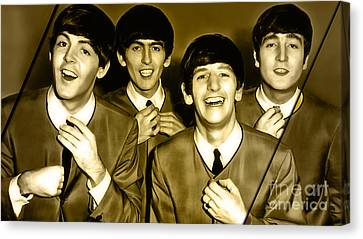 The Beatles Collection Canvas Print by Marvin Blaine