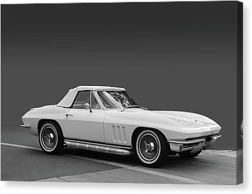 65 Corvette Roadster Canvas Print by Bill Dutting