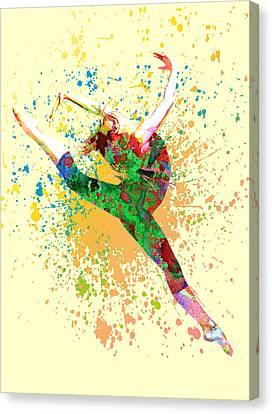 Dance Canvas Print by Elena Kosvincheva