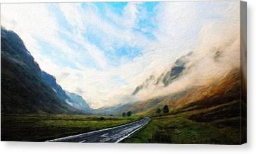 Landscape On Nature Canvas Print by Margaret J Rocha