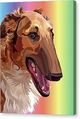Greyhound Canvas Print - #651514 by Alexey Bazhan