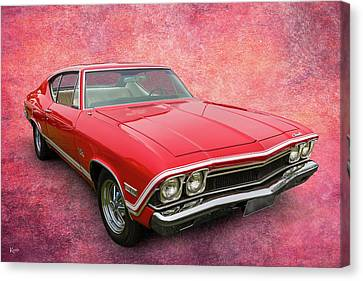 68 Chev Canvas Print - 68 Chevelle by Keith Hawley