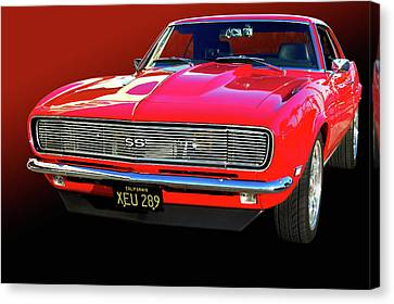 68 Ss Camaro Canvas Print