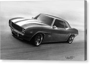 Cars Canvas Print - '69 Camaro by Tim Dangaran