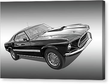 69 Mach1 In Black And White Canvas Print