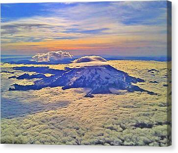#69 Mt Rainier Sunrise Canvas Print