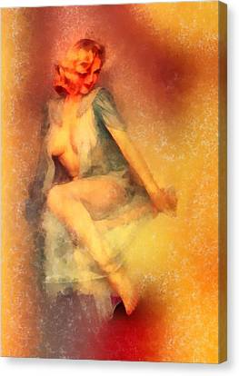 Vintage Pinup Canvas Print by Frank Falcon