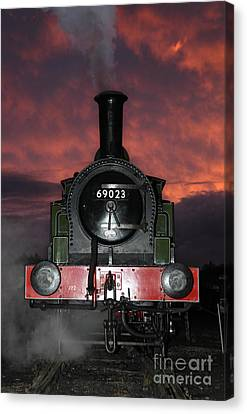 69023 Sunset Canvas Print by Bryan Attewell