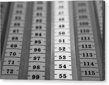 Measuring Tape Canvas Print by Boyan Dimitrov