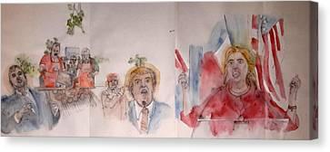 2016 Presidential Campaign  Album  Canvas Print
