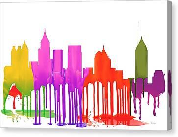 Atlanta Georgia Skyline Canvas Print by Marlene Watson