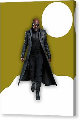 Avengers Nick Fury Collection Canvas Print by Marvin Blaine