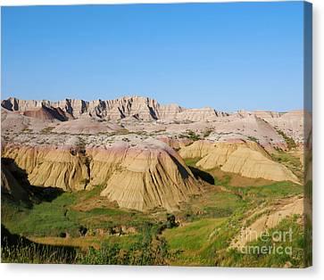 Badlands National Park South Dakota Canvas Print by Louise Heusinkveld