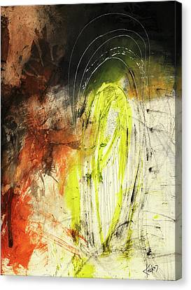 Bold Earth Tone Abstract Painting Canvas Print by Michel Keck