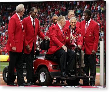 7 Cardinal Hall Of Famers Canvas Print