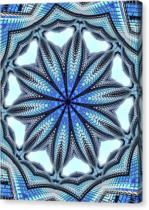 Colorful Blue Kaleidoscopic Design Canvas Print by Amy Cicconi