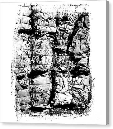 Compressed Pile Of Paper Products Canvas Print by Bernard Jaubert