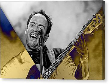 Dave Matthews Canvas Print - Dave Matthews Collection by Marvin Blaine