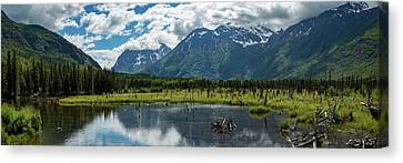 Eagle River Nature Center Canvas Print by Jon Manjeot