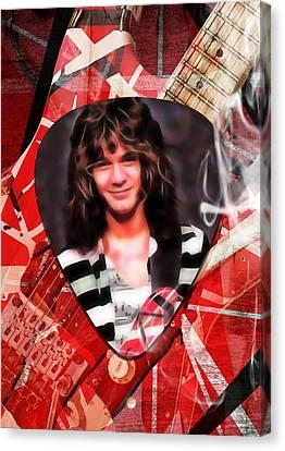 Van Halen Canvas Print - Eddie Van Halen Art by Marvin Blaine