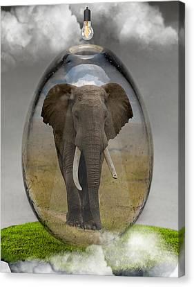 Elephant Art Canvas Print by Marvin Blaine