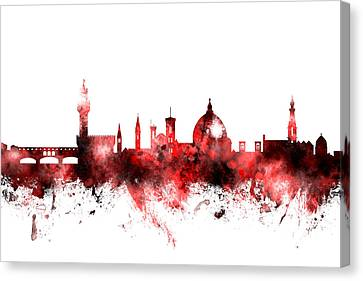 Florence Italy Skyline Canvas Print by Michael Tompsett